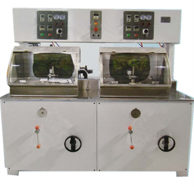 Two Spindles Lens Lapping & Polishing Machine (spindle inclining)